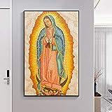 Santísima Virgen María Retrato de Tradición Cristiana Religión DIY Pintura de Diamante por Números Kits de Arte de Cristal DIY Pegatinas Pintura con Kits de Diamantes