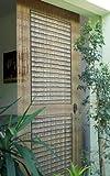 Rideau de porte en bambou Motif porte de véranda Env. 90 x 200 cm