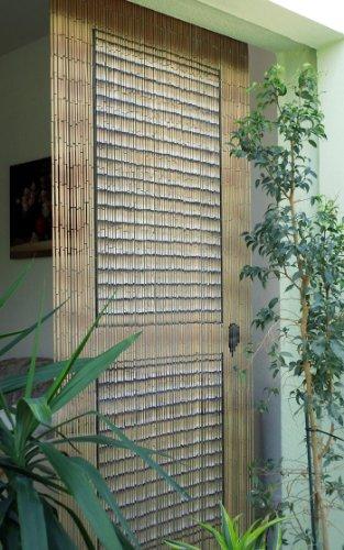 Cortina de bambú con diseño de puerta de porche, de aproximadamente 115x 220cm (ancho x alto)