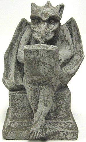 Private Label Gargoyle with Laptop Computer Concrete Statue