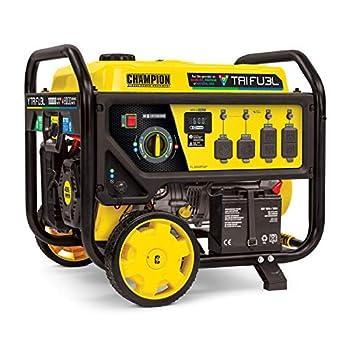 Champion Power Equipment 100416 10,000/8,000-Watt TRI Fuel Portable Natural Gas Generator NG/LPG Hose Kits and CO Shield