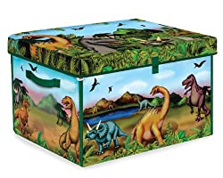 2. ZipBin 160 Dinosaur Collector Toy Box & Play Set