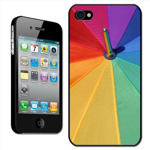 Fancy A Snuggle 'Regenboog Kleur Paraplu Top' Clip Op Achterzijde Cover Hard Case voor Apple iPhone 4/4S