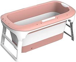 LHHL 114cm verlengd opvouwbare bad draagbare antislip bad voor volwassenen en kinderen gemakkelijk af te voeren (kleur: roze)