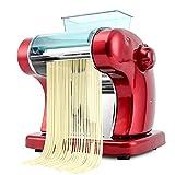 Mashine della taglierina della tagliatella del cre Pasta Maker 220V Noodle Electric Press Macchina Spaghetti Pasta Maker Commerciale Acciaio inox Dough Cutter Gnocchi Roller Noodles gancio 6 velocità