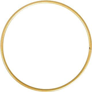 Rayher 282250 Metallring, Gold beschichtet, 50 cm ø, Stärke ca. 3 mm, Drahtring zum Basteln, für Wickeltechnik, Traumfänger Ring, Makramee Ring, Floristik …