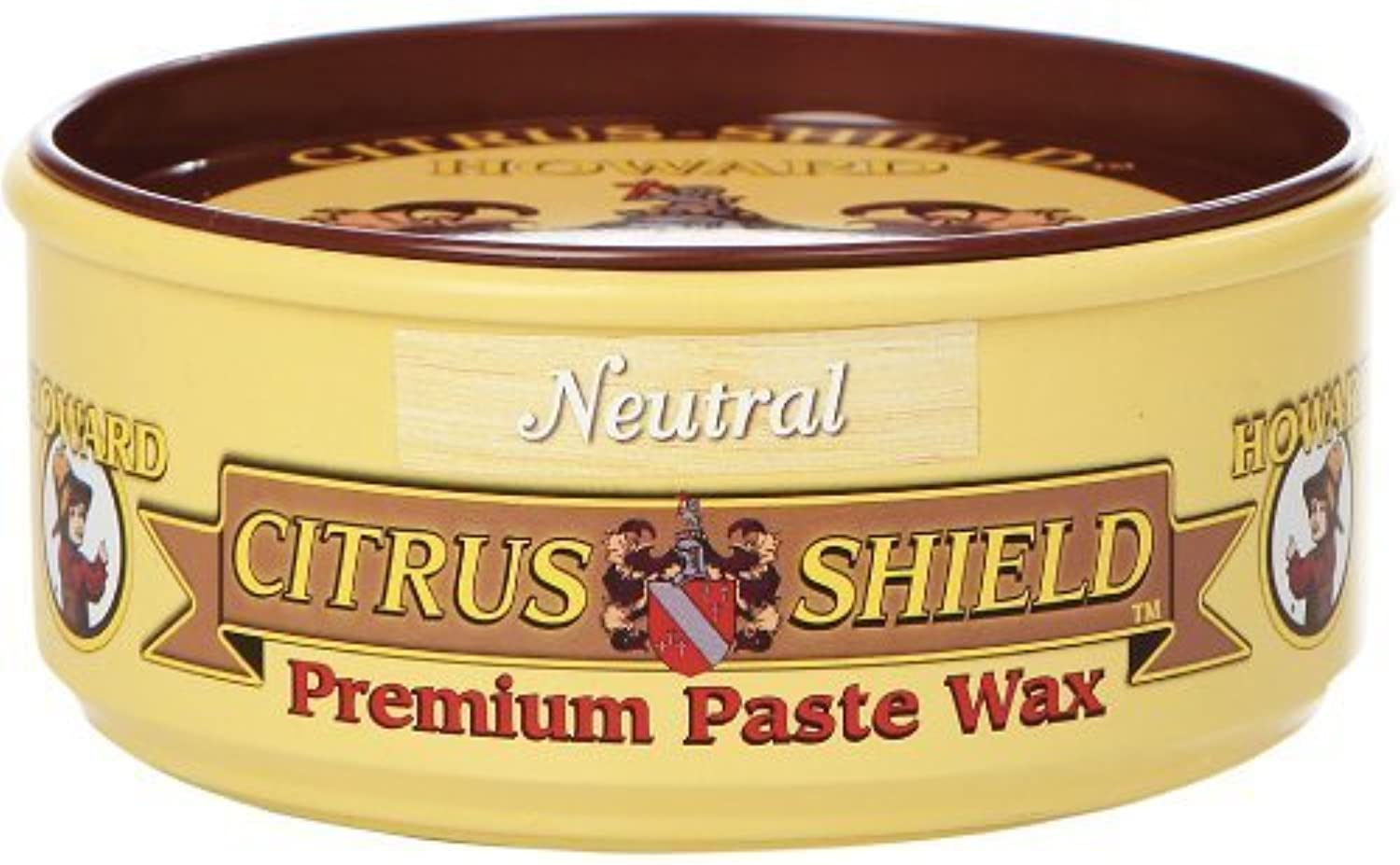 Howard CS0014 Citrus Shield Paste Wax, 11-Ounces Neutral (4-Pack)