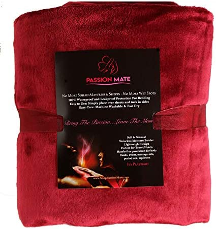Passion Mate Waterproof Sex Bed Pad Leakproof Noiseless Reusable and Washable Sheets and Mattress product image