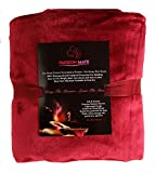 Passion Mate Waterproof Sex Bed Pad - Leakproof, Noiseless, Reusable, and Washable Sheets and Mattress Protector with Tuck-in Sides (60 X 55, Burgundy)