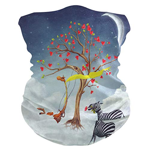 TropicalLife - Pañuelo para la cara, diseño de jirafa, diseño de cebra, diseño de árbol
