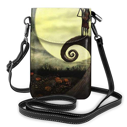 Lsjuee Womens Crossbody Bags Jack and Sally in The Moon Nightmare Before Christmas Small Cell Phone Purse Wallet with Credit Card Slots