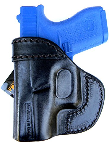 TAGUA BLACK RIGHT HAND SIDE Leather In / Inside the Pants Reinforced Mouth Holster for GLOCK G17 G22 G31 17 22 31 & GEN 4 (Itp, Iph, Iwb, Ccw)