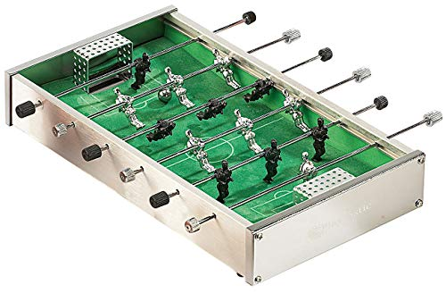 Playtastic Tischfussball: Mini-Tischkicker aus robustem Aluminium mit je 7 Spielern pro Seite (Tischfussball Kinder)