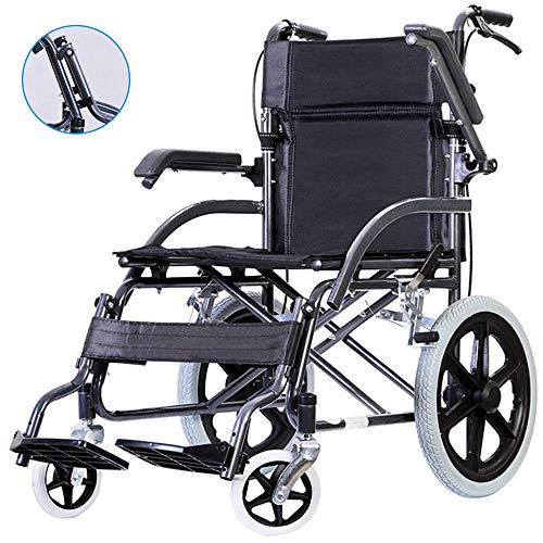 HPDOSHP Rollstuhl Transportrollstuhl Reiserollstuhl,Rollstuhl faltbar Leichtgewicht Geeignet für behinderte und ältere Menschen