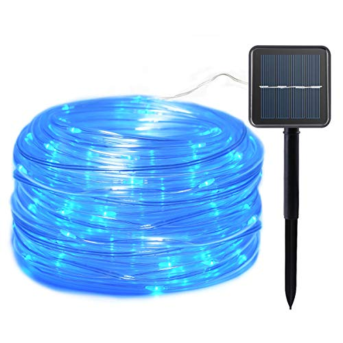 Lalapao Rope Lights Solar Powered String Lights 120 LED Christmas Fairy Outdoor Lighting