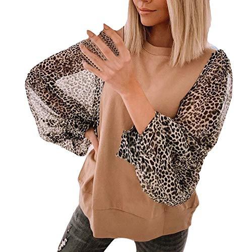 Kpasati 2021 Elegante Angepasst Lange Hülse Frauen Bluse Sommer V-Ausschnitt Leopard Druck Hemd Lose Streetwear Top
