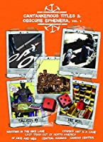 Cantankerous Titles & Obscure Ephemera [DVD] [Import]