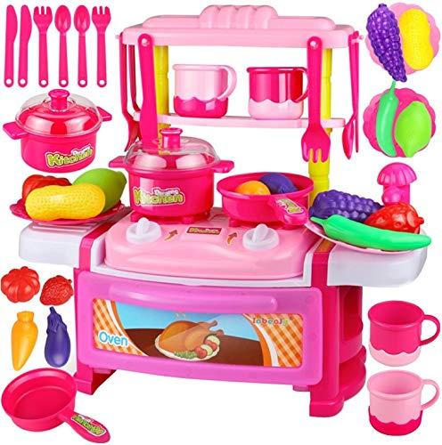 おままごと キッチン セット 人気 おもちゃ 食材 食器 鍋 果物 野菜 調理器具 皿 ピンク 台所 fur kinder