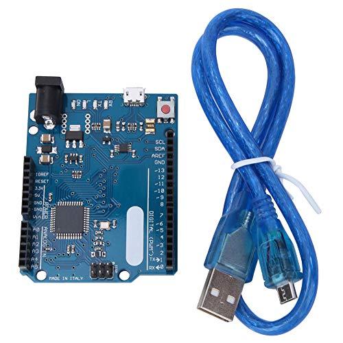 ASHATA Entwicklungsplatine, 7 PWM-Schnittstellen 5V 16 MHz ATmega32u4 Entwicklungsplatine mit USB-Kabel für Arduino Leonardo R3 Pro