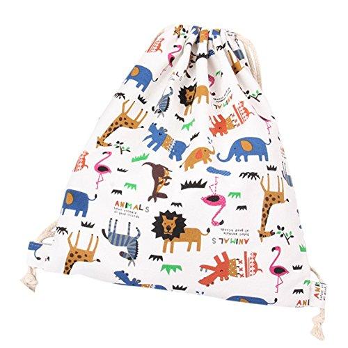 LAAT Bolsa y Mochila de Tela de algodón Unisex para niños o Adolescentes