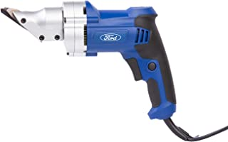 Ford 500 Watts Electric Metal Shear, Corded Variable Speed Swivel Head Metal Sheet Cutter, Portable Cutting Power Tool wit...