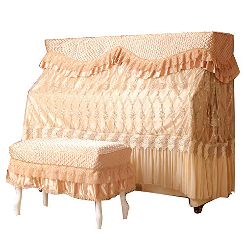 Read About BWAM-hom Piano Keyboard Dust Cover Lace Piano Full Cover Luxury Dustproof Embroidery Clot...