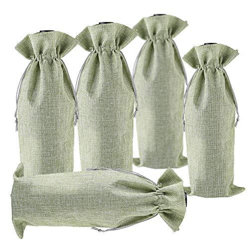 BestTas 10 bolsas de vino de yute envuelven paquetes de bols