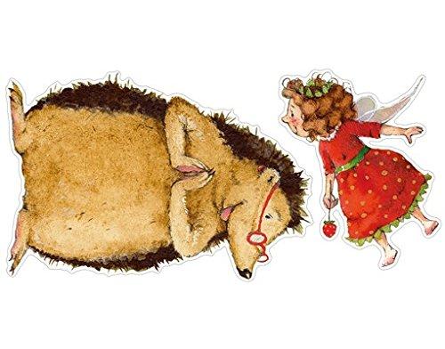Apalis Wandtattoo Erdbeerinchen Erdbeerfee Mit dem Igel Sticker Set Kinder Zimmer
