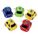 Hellery Wind Up Taxi Car Toys, Paquete de 5 Colores Surtidos para Niños, Regalos de Fiesta para Niños