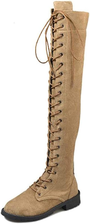 BeautyOriginal Women's High Over The Knee Chunky Heel Boots