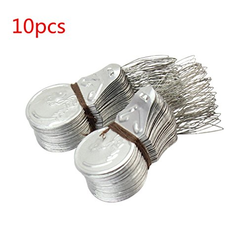 10x Silver Tone Wire Loop DIY Needle Threader Stitch Insertion Hand Machine Sewing Tool for Home or Machine Sewing by TheBigThumb