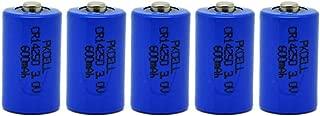 5 Pack 1/2AA CR14250 3V 600mAh Lithium Batteries