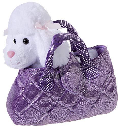 Heunec 501775 Plüschtier, Hund, Pudel, weiß in pink