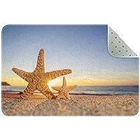エリアラグ軽量 夏のビーチヒトデ フロアマットソフトカーペットチホームリビングダイニングルームベッドルーム