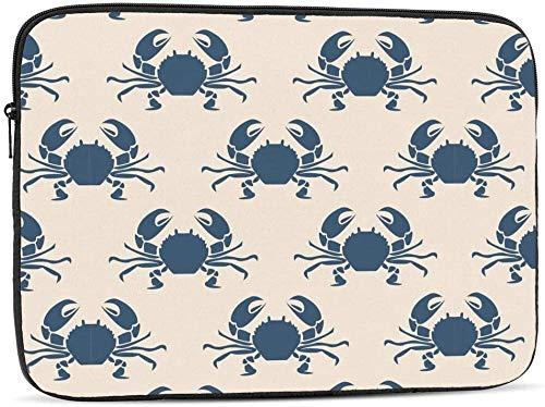 Mouth Red Sexy Lips Laptop Sleeve Bag Compatible with 10-17 Inch Cute Computer Bag Laptop Case-Retro Marine With Crabs,13inch