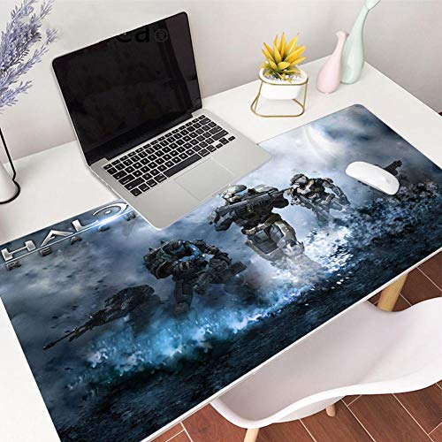 Mouse Pads Halo Professional Gaming Mouse Pad Extended Size Large Computer Laptop Keyboard Desk Mat Waterproof Mousepad with Stitched Edges Anti Slip Rubber Base for School Office Home