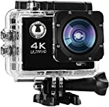 Shop-Art Action Cam,Mini VIDEOCAMERA WiFi 4K Sports Go PRO,PRO Cam Ultra HD DV 30MT,64GB Waterproof,...