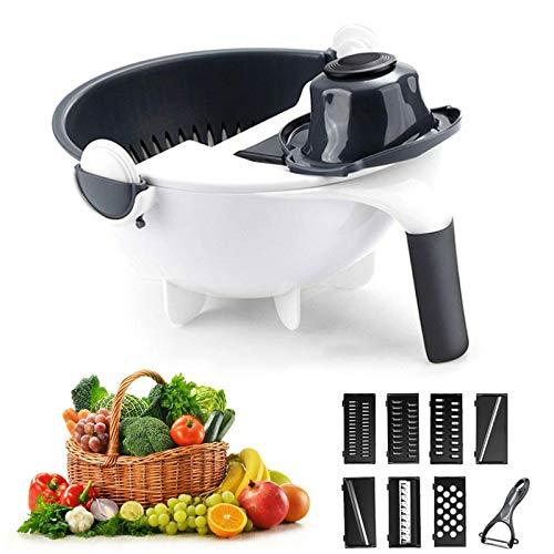ZHUOHONG - Tagliaverdure 9 in 1, per cucinare tutti i tipi di insalata