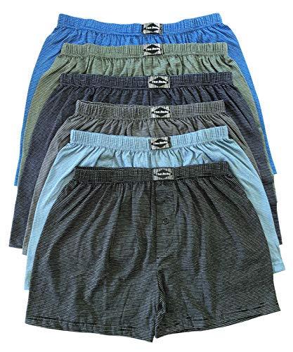 .bakis. 3/6/9/12 Stück Klassische Herren Boxershorts Unterhosen Unterwäsche mit Eingriff in Normalgröße und Übergröße, Gestreift Gr.5(S)-13(6XL) - 3 Stück - Gr. 11(4XL)