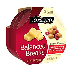Sargento Balanced Breaks Gouda Natural Cheese with Honey Roasted Peanuts and Dried Cranberries, 1.5