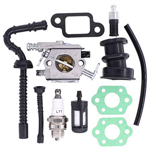 Doo Engy Carburador para motosierras Stihl MS210 MS230 MS250 021 023 025 con filtro de aire, bujía, manguera de combustible, kit de juntas