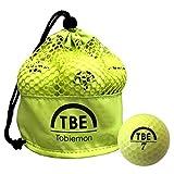 TOBIEMON(トビエモン) ゴルフボール 公認球 2ピース 1ダース(12個入り) イエロー メッシュバック入り TBM-2MBY
