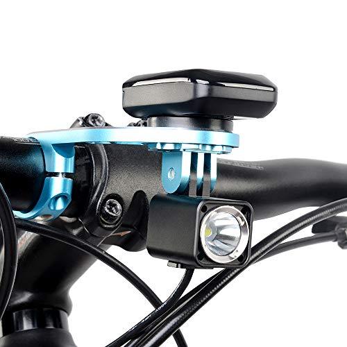 TrustFire Fahrrad Halterung GPS Fahrradcomputer Lenkerhalterung Radfahren Halter für Sport Kamera Go Pro Garmin Edge, Bryton – Blau - 4