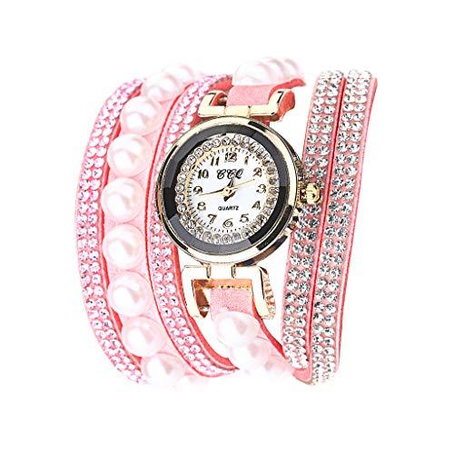 Fenverk Damen Uhr Armbanduhr Frauen Armbanduhr Mädchen Mode Schöne Mode Design Strass Armband Uhren Uhr,Damen Armbanduhr Frauen Armbanduhr MäDchen Mode(Pink#01)