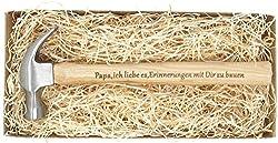 """Geschenk für Papa : Gravierter Holzhammer :"""" Papa, ich liebe es, Erinnerungen mit Dir zu bauen"""" -"""" Du bist der Hammer"""" - Besonderes Geburtstagsgeschenk für Papa"""