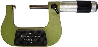 Proster 6pz Kit Micrometro Meccanico 0-150mm Micrometro Alta Precisione 0.01mm Calibro Esterno in Acciaio Micrometro Esterno Strumento di Misurazione per Cuscinetti Durevole 6 Dimensioni