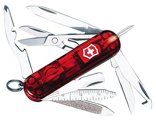 Victorinox Swiss Army Multi-Tool, Midnite MiniChamp Pocket Knife, Ruby