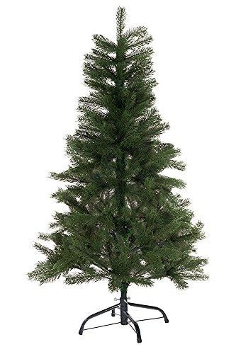 Hiskøl 120 cm Spritzguss ca. 244 Astspitzen Künstlicher Weihnachtsbaum Tannenbaum Christbaum inklusive Christbaumständer, grün