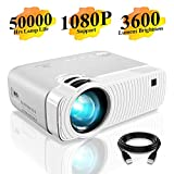 """Mini Projector, DracoLight 3600 Lumens Portable Projector Ideal 180"""" Display 50000 Hours Lamp"""