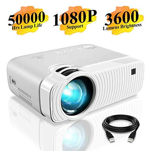Mini Projector, DracoLight 3600 Lumens...